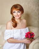 Bride with bouquet Royalty Free Stock Images