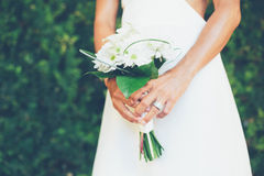 Bride with Bouquet Royalty Free Stock Photos