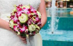 Bride with bouquet. Stock Photos