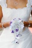Bride bouquet closeup Stock Photos