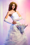 Bride with a bouquet of flowers Royalty Free Stock Photography