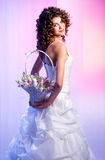 Bride with a bouquet of flowers Royalty Free Stock Image