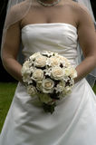 Bride with bouquet of flowers Royalty Free Stock Photos