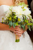 Bride and Bouquet Flowers Stock Photos