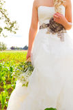 Bride and Bouquet Flowers Royalty Free Stock Images