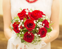 Bride bouquet of flowers. Rose Stock Photo