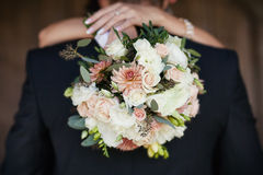 Bride with a bouquet in the hands Stock Image