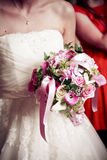 Bride with bouquet. A bride with her bouquet Stock Image