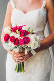 Bride and Bouquet Stock Photo