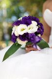 Bride with a bouquet. Royalty Free Stock Photos
