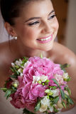 Bride with bouquet Royalty Free Stock Photo