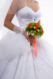 The bride with a bouquet. Royalty Free Stock Photography