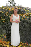 Bride with bouquet Royalty Free Stock Image