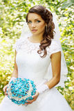 Bride with a bouquet of stone Royalty Free Stock Photos