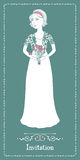 The bride with a bouquet Royalty Free Stock Photos