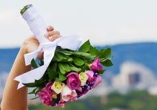 Bride and bouquet. Wedding Bouquet Stock Photo