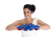 Bride boxing Stock Images