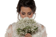 Bride with bridal bouque Stock Photography