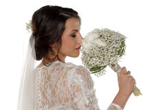 Bride with bridal bouque Royalty Free Stock Photography