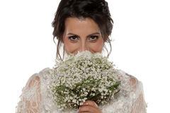Bride with bridal bouque Stock Photo