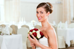 Bride with bridal bouquet Royalty Free Stock Photos