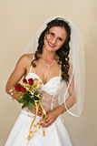 Bride with bridal bouquet Stock Photo