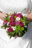 Bride with bridal bouquet Royalty Free Stock Photo