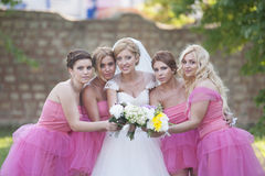 Bride and Bride maids Royalty Free Stock Image