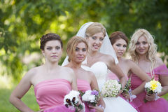 Bride and Bride maids Royalty Free Stock Images