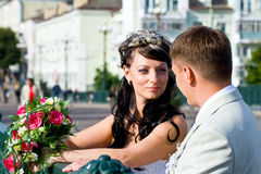 Bride and bridegroom Royalty Free Stock Image