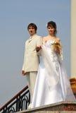 Bride and bridegroom Royalty Free Stock Photos