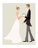 Bride and bridegroom Royalty Free Stock Photo