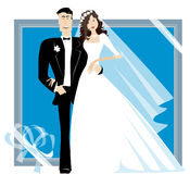 Bride and bridegroom. Standing together Royalty Free Stock Images