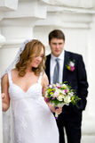 Bride and bridegroom. On the image there is bride and bridegroom stock images