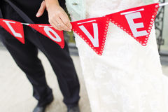 Bride and bridegroom Royalty Free Stock Photography