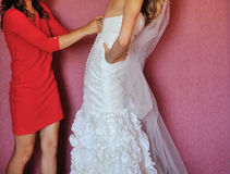 Bride and bridemaid Royalty Free Stock Images