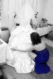 Bride and bridesmaid Royalty Free Stock Image