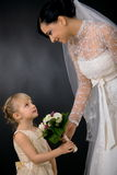 Bride and bridesmaid Stock Image