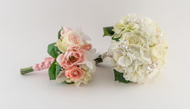 Bride and Bridesmaid Bouquets Royalty Free Stock Photography