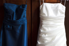 Bride and Bridesmaid Dress stock image