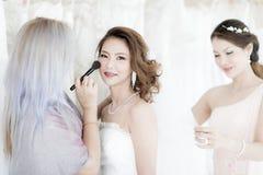 Bride and .bridesmaid royalty free stock photos