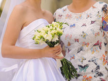 Bride and Bridesmaid in Street Royalty Free Stock Photo