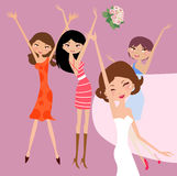 Bride and bridesmaids Royalty Free Stock Photo