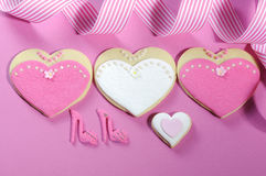Bride and bridesmaids wedding cookies Royalty Free Stock Photography