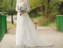 Bride on Bridge Royalty Free Stock Photos