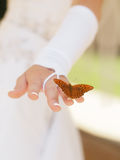 Bride with buterfly Stock Photos