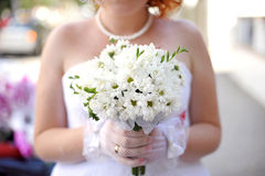 Bride with Camomiles Royalty Free Stock Image