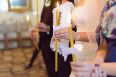 Bride with Candle Stock Photography