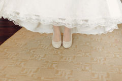 Bride on Carpet Royalty Free Stock Photography