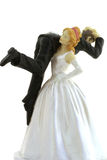 Bride carrying groom. Stock Image
